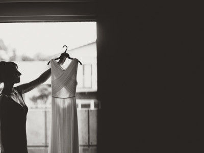 Wedding dress, Black Rock wedding photography
