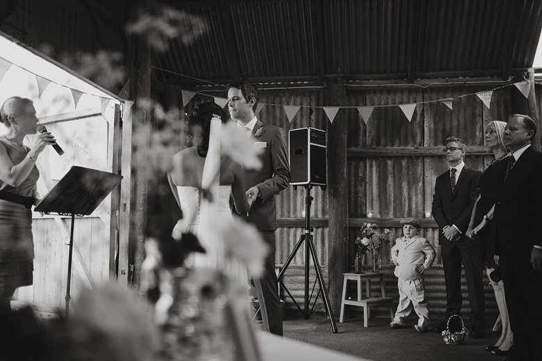 Ceremony at the Barn, Briars, Mt Martha