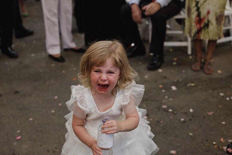 Very very sad flowergirl