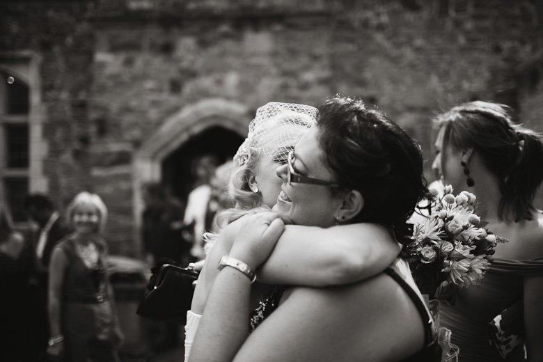 Hugs. Ceremony aftermath, Monsalvat