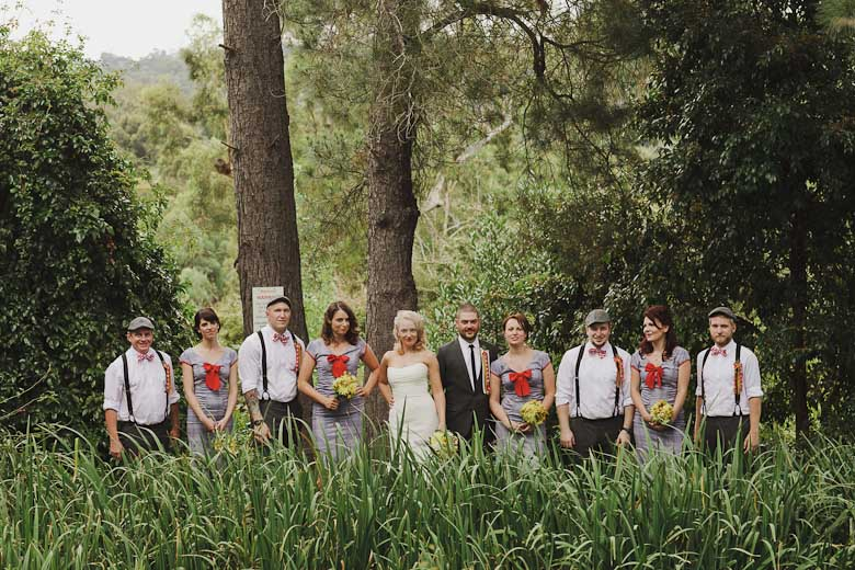 The bridal party. Shot at Monsalvat