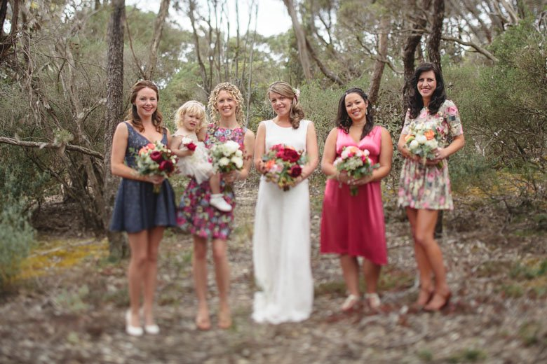 Bridesmaids at Boyd Baker House