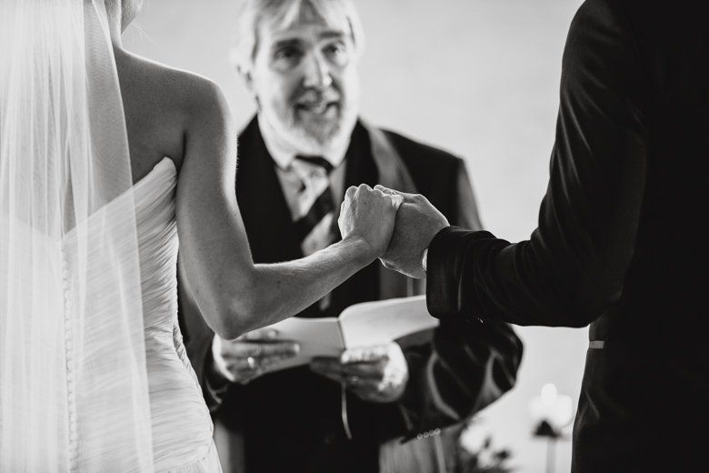 Getting married. Holding hands