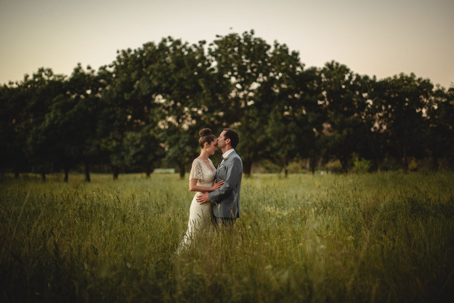 Sunset wedding portraits of Kristen & Daniel taken at their awesome Euroa Butter Factory wedding