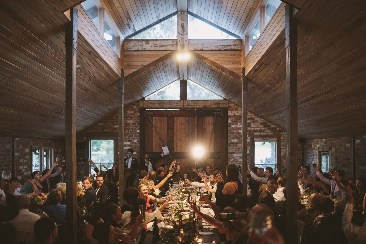 Wedding speeches at Tanglewood Estate