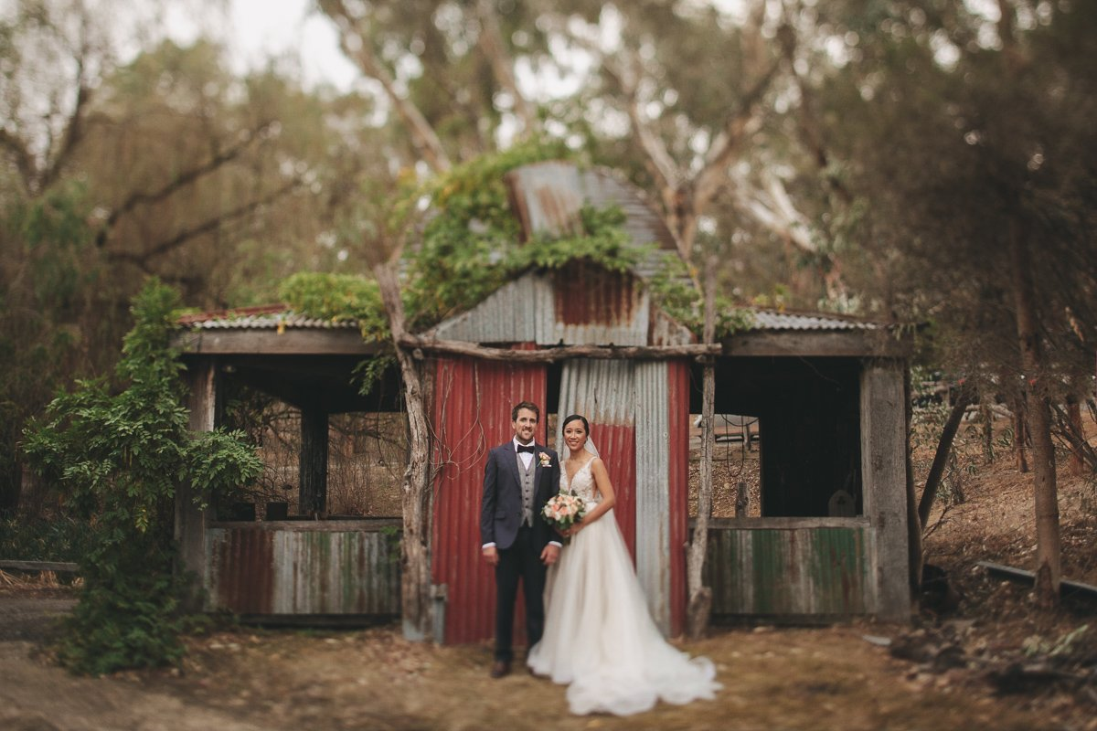 Wedding photo by shed at Inglewood Estate